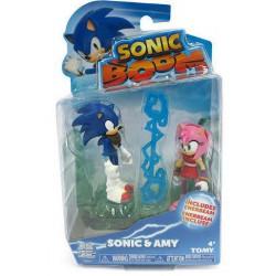 Sonic Boom y Amy Rose Figuras