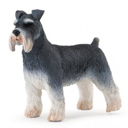 Schnauzer Dog Plastic Figure