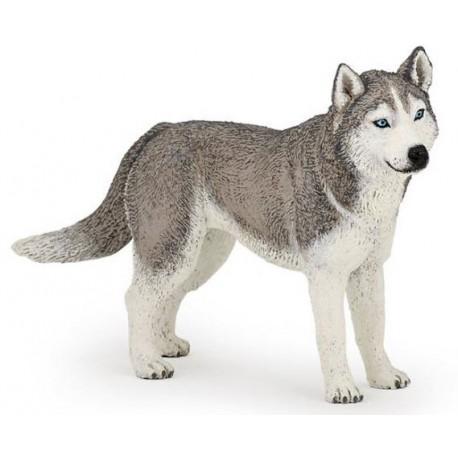 Siberian Husky Dog Figure