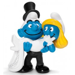 Smurf bride and groom Figure