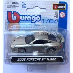 Porsche 911 Turbo Burago Escala 1:64