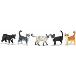 Gatos Domésticos Figuras Miniaturas