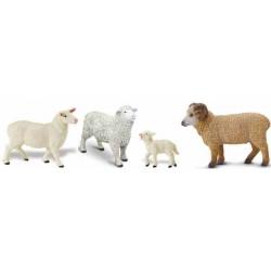 Ovejas Carneros Corderos Figuras Animal de Granja