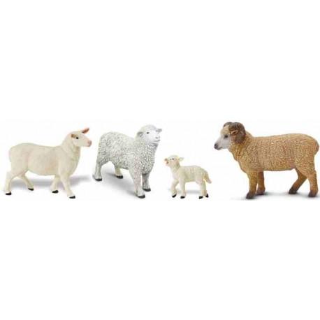 Sheep Rams Lambs Animal Farm Figures