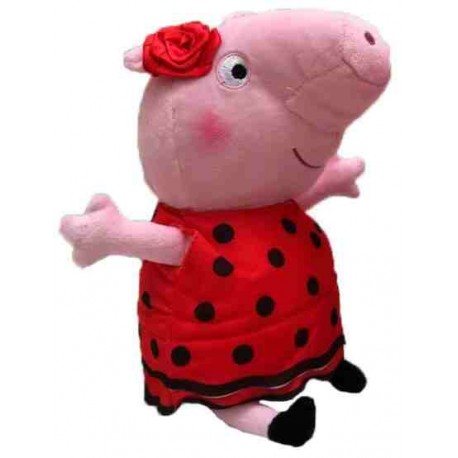 Peppa Pig Plush With Spanish Dress